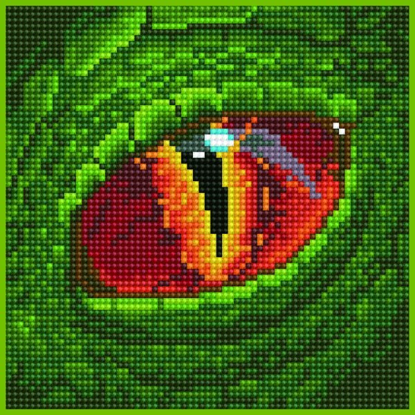 50486 DIAMOND ART - 20.32 x 20.32cm Kits Dragon eye