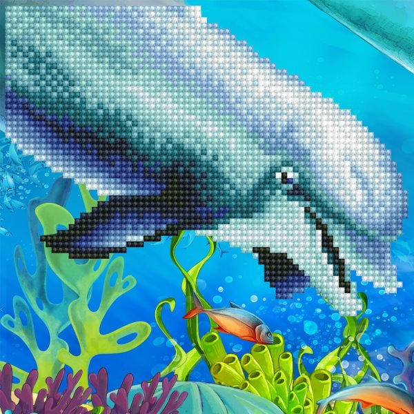 50492 DIAMOND ART - 20.32x20.32cm - Kits Dolphin