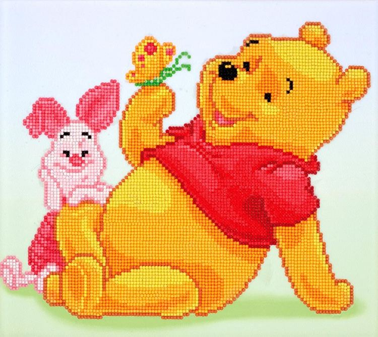 CD854300305 Camelot Dotz® - 36cmx32cm Pooh with Piglet Diamond Painting Kit