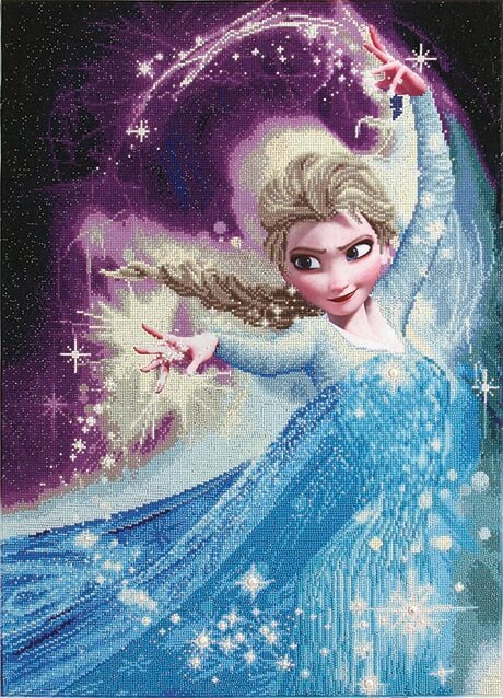 CD851900113 Camelot DOTZ® - 58cmx80cm - Elsa Magic Diamond Painting Kit