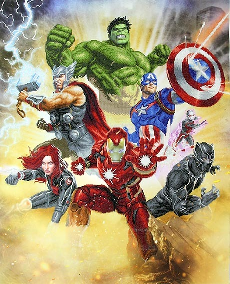 CD130500610 Camelot DOTZ® - 85x105cm - Avengers Assemble Diamond Painting Kit
