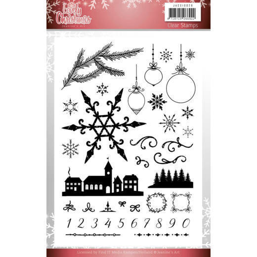 JACS10029 Clear Stamps - Jeanine's Art - Lovely Christmas (HJ174)