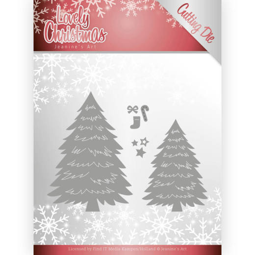 JAD10081 Dies - Jeanine's Art - Lovely Christmas - Lovely Trees (HJ174)