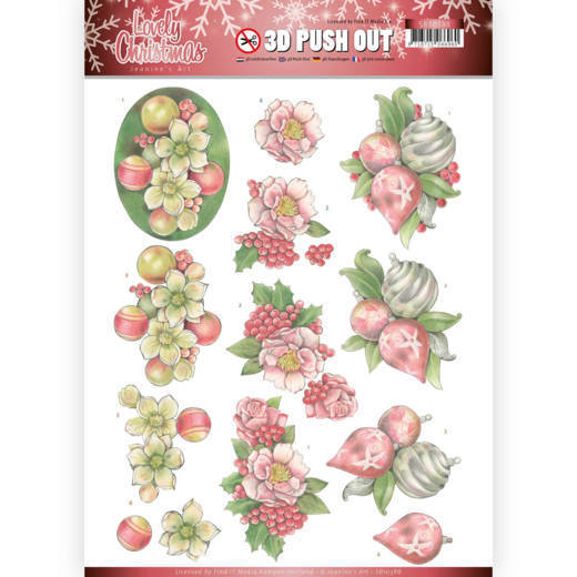 SB10388 3D Pushout - Jeanine's Art - Lovely Christmas - Lovely Ornaments (HJ174)