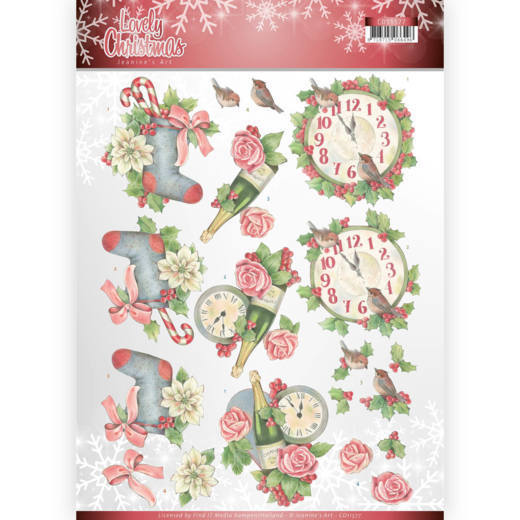 CD11377 3D Knipvel - Jeanine's Art - Lovely Christmas - Lovely Christmas Time (HJ174)