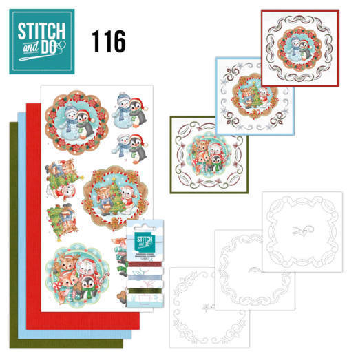 STDO116 Stitch and Do 116 Sweet Winter Animals