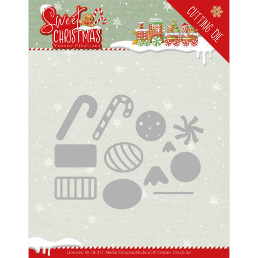 YCD10183 Dies - Yvonne Creations - Sweet Christmas - Sweet Christmas Candy (HJ175)