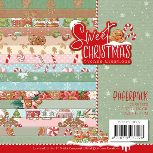YCPP10026 Paperpack - Yvonne Creations - Sweet Christmas (HJ175)