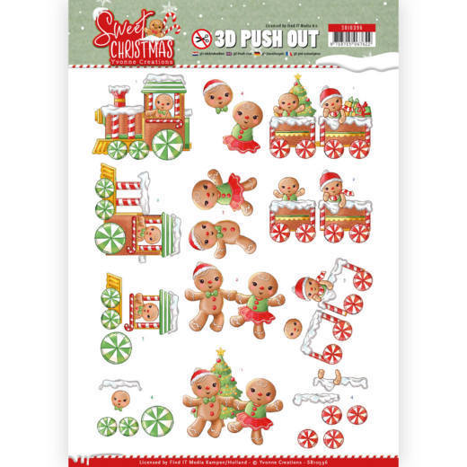 SB10396 3D Pushout - Yvonne Creations - Sweet Christmas - Sweet Cookies (HJ175)