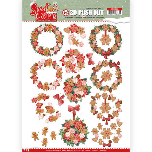SB10395 3D Pushout - Yvonne Creations - Sweet Christmas - Sweet Wreaths (HJ175)