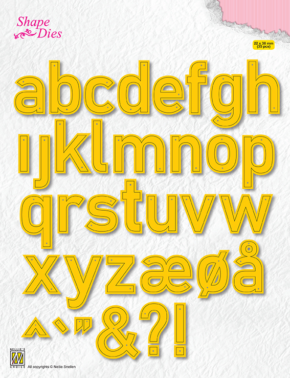 SD176Shape Dies Alphabet Large
