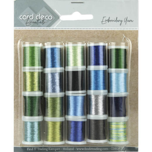 CDEGK002 Card Deco Essentials - Embroidery yarn mix 02