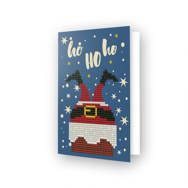 DDG.020 DIAMOND DOTZ® - 12.6x17.7 cm - Greeting Card HO HO HO
