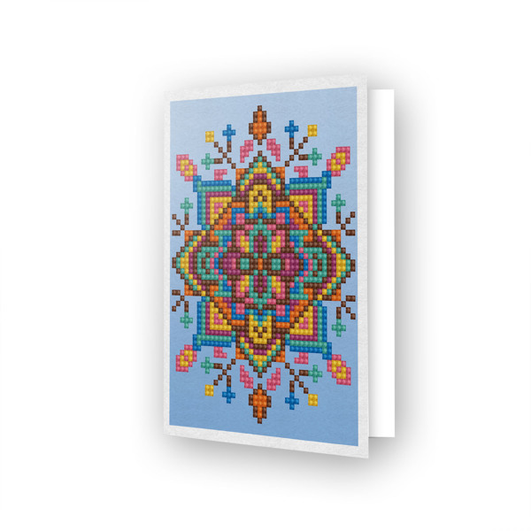 DDG.022 DIAMOND DOTZ® - 12.6x17.7 cm - Greeting Card BLUE STAR