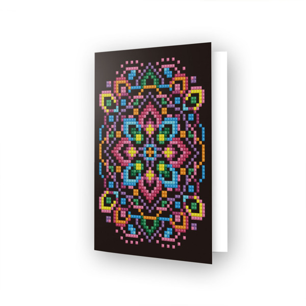 DDG.023 DIAMOND DOTZ® - 12.6x17.7 cm - Greeting Card BLACK STAR