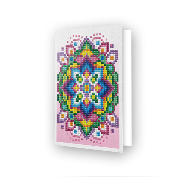 DDG.024 DIAMOND DOTZ® - 12.6x17.7 cm - Greeting Card PINK STAR