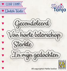 DTCS029 Clear stamps Dutch texts Gecondoleerd etc..