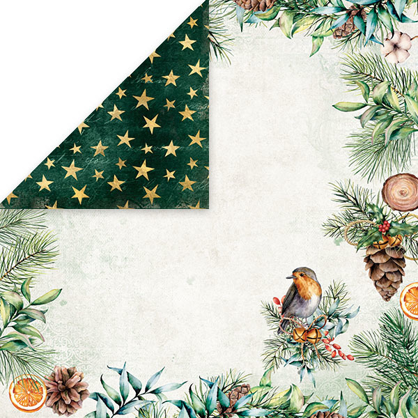 "CP-CV02 CHRISTMAS VIBES Scrapbooking single paper 12x12"", 200gsm"