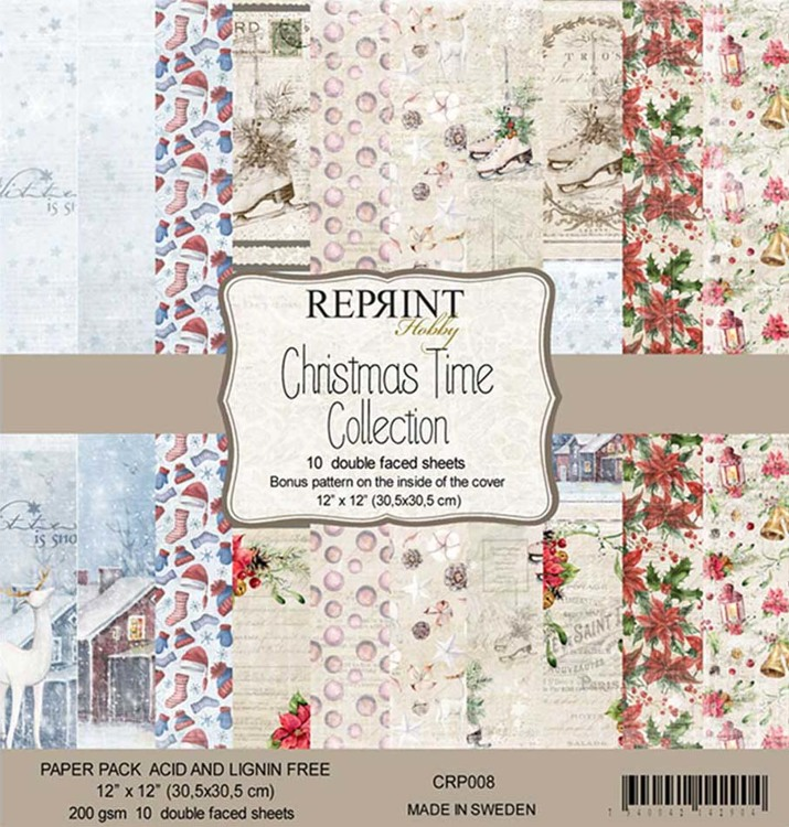 CRP008 Christmas Time Collection pack 12x12""