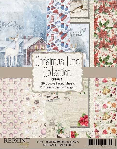 RPP021 Christmas Time Collection pack 6x6 20 Sheets