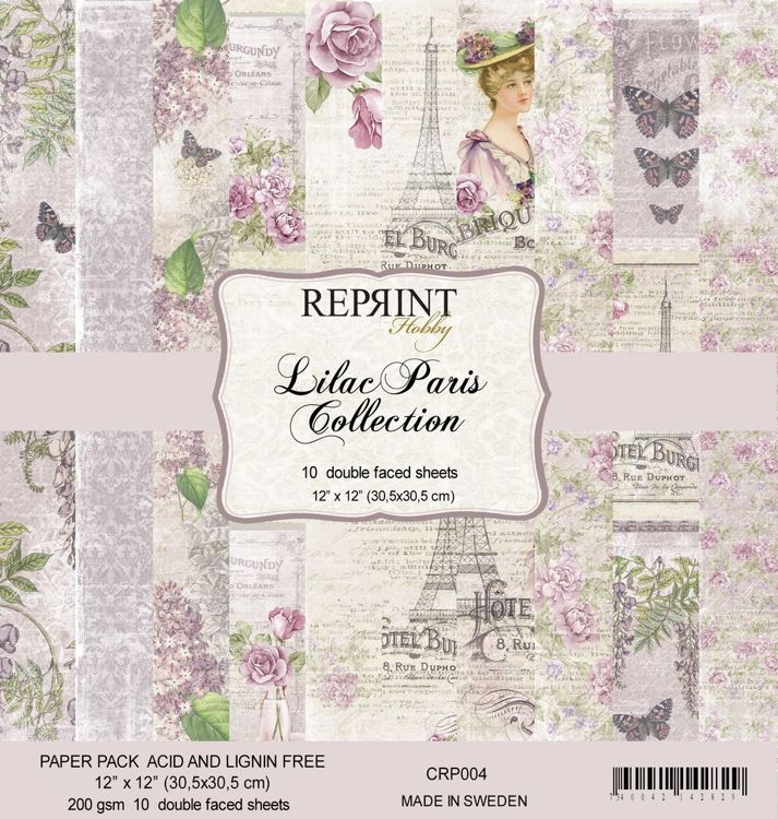 CRP004 Lilac Paris Collection Paperpack 10sheets