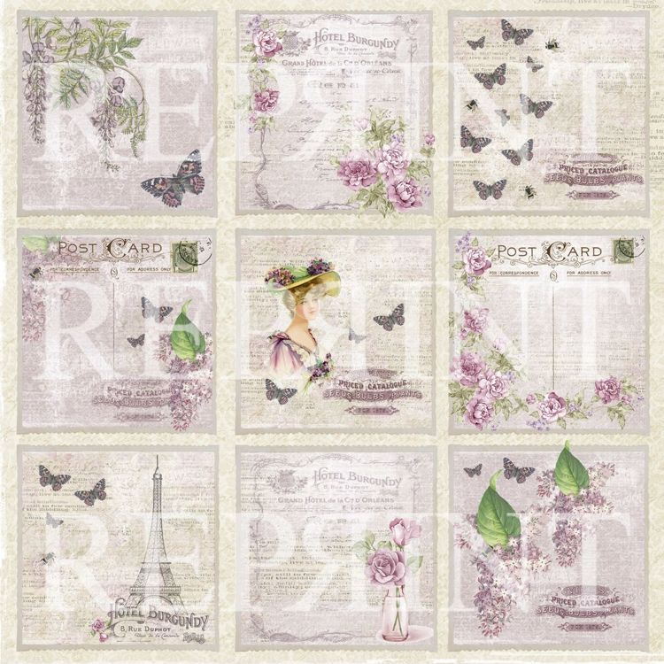 RP0270 Lilac Paris Collection 12x12 Lilac Tags 1