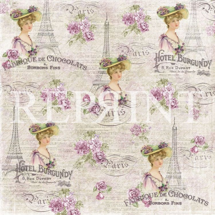 RP0273 Lilac Paris Collection 12x12 French Lady