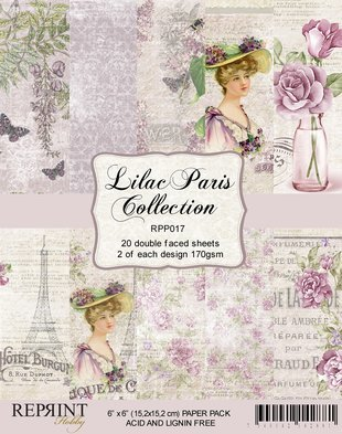RPP017 Lilac Paris Collection Paperpack 6x6´20 sheets