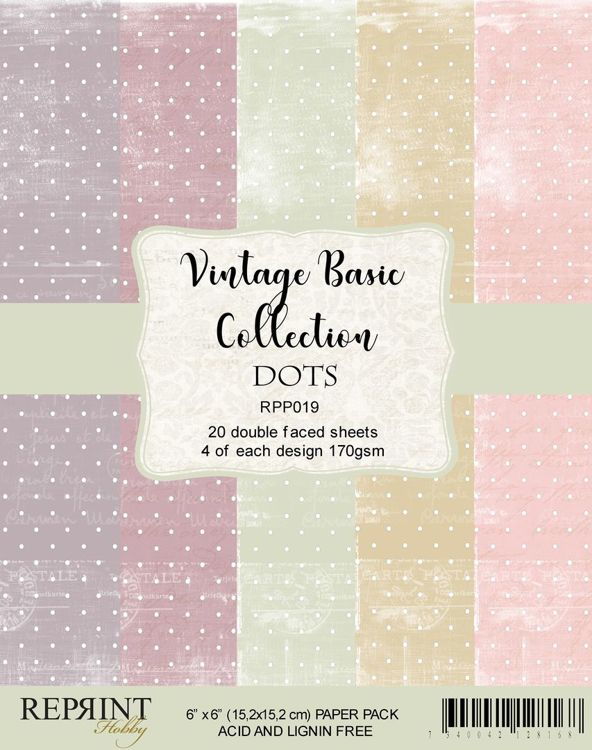 RPP019 Paperpacks 6x6 Basic Collection Dots