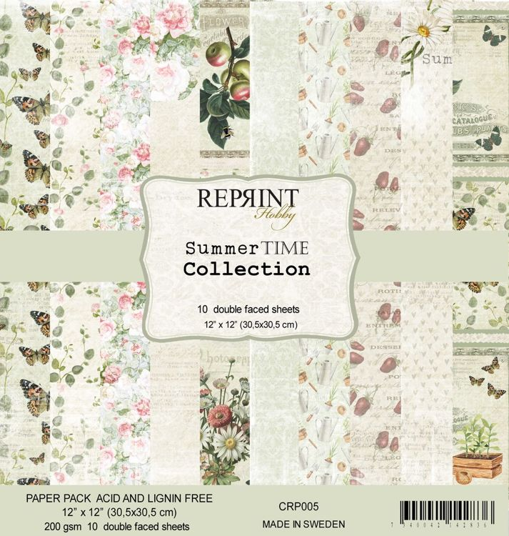 CRP005 Summer Time Collection 12x12 Paperpack 10 sheets/pk