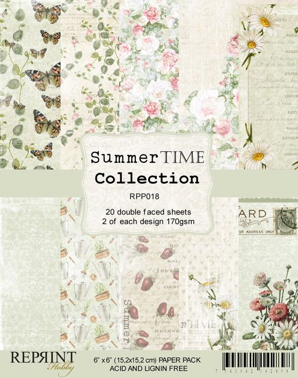 RPP018 Summer Time Collection Paperpack 6x6 20 sheets