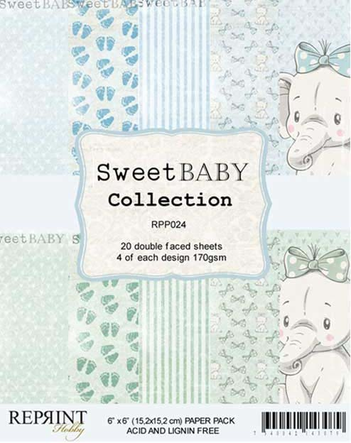 RPP024 Sweet Baby Collection pack Blue 6x6 20 Sheets