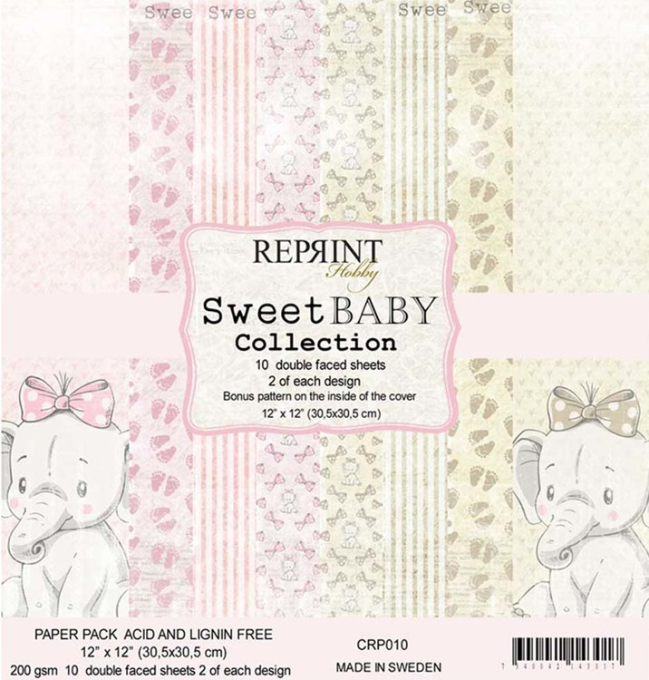 CRP010 Sweet Baby Collection pack Pink 12x12 10 Sheets