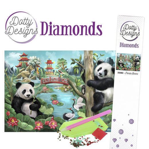 DDD10002 Dotty Designs Diamonds - Panda Bears
