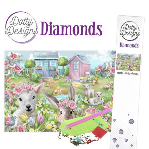 DDD10003 Dotty Designs Diamonds - Baby Animals