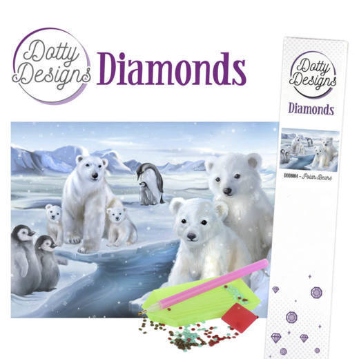 DDD10004 Dotty Designs Diamonds - Polar Bears