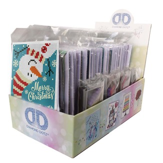 DDA.078A Diamond Dotz® - Greeting Cards Display box 7x3 stuks Kerst