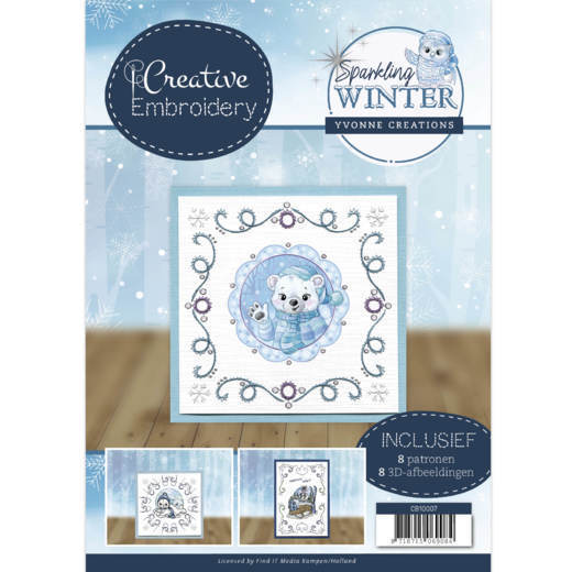 CB10007 Creative Embroidery 7 - Yvonne Creations - Sparkling Winter (HJ176)