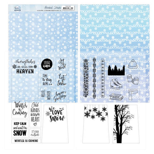 YCMC1006 Mica Sheets - Yvonne Creations - Sparkling Winter (HJ176)