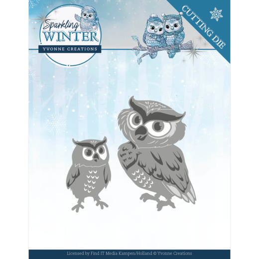 YCD10192 Dies - Yvonne Creations - Sparkling Winter - Winter Owls (HJ176)