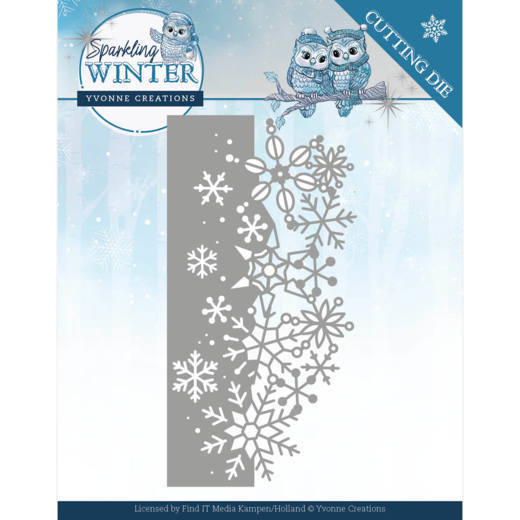 YCD10189 Dies - Yvonne Creations - Sparkling Winter - Sparkling Border (HJ176)