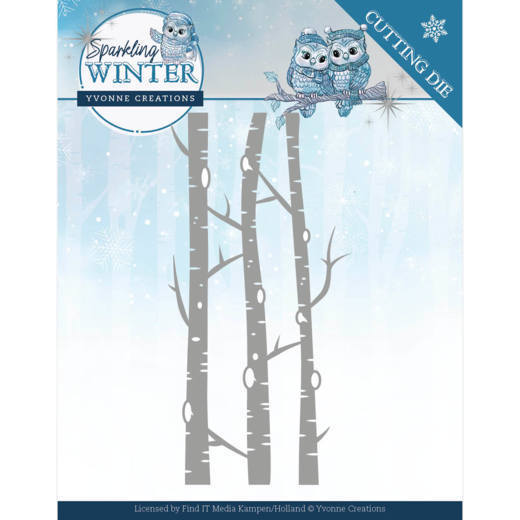 YCD10188 Dies - Yvonne Creations - Sparkling Winter - Birch Trees (HJ176)