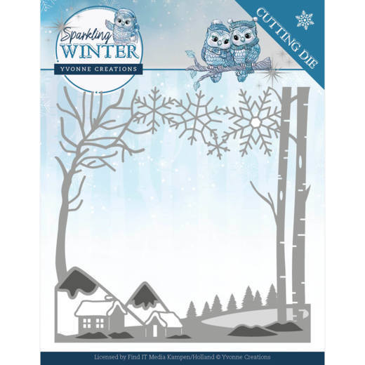 YCD10187 Dies - Yvonne Creations - Sparkling Winter - Winter Landscape (HJ176)