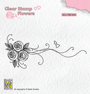 FLO020 Clear stamps Flowers Bouquet roses-1