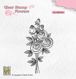 FLO021 Clear stamps Flowers Bouquet roses-2