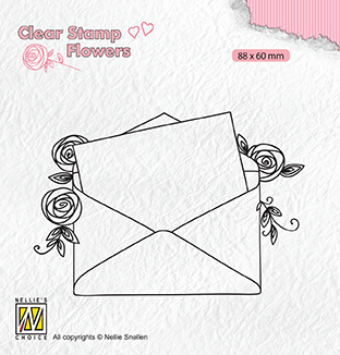 FLO023 Clear stamps Flowers Love letter