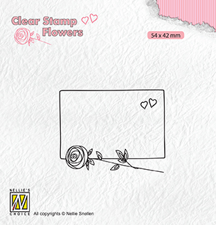 FLO024 Clear stamps Flowers frame with rose