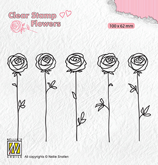 FLO025 Clear stamps Flowers roses
