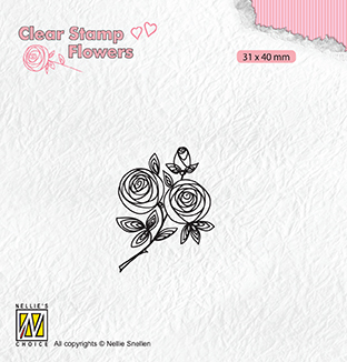 FLO026 Clear stamps Flowers rose twig