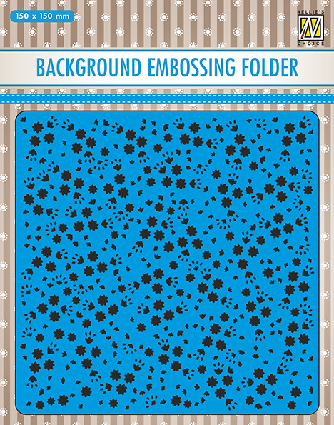 EEB026 Background embossing folders flowers